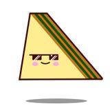 Прослоите вектор дизайна фаст-фуда kawaii значка персонажа из мультфильма плоский Стоковое Фото
