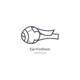 Протез глаза логотипа Стоковая Фотография RF
