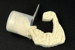 протеин силы порошка рукоятки Стоковые Фотографии RF
