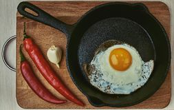 Протеин, сковорода, здоровая, кашевар, изолированный, есть стоковые фото