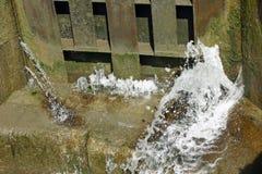 Протекая строб замка канала Стоковое Фото