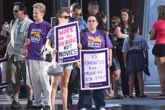 протестовать работников Стоковые Изображения RF