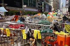 Протестующие демократии Гонконга воюют их главу исполнительной власти Стоковая Фотография