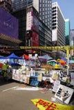 Протестующие демократии Гонконга воюют их главу исполнительной власти Стоковое Изображение