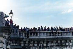 Протестующие против трудовой реформы Стоковое Фото