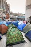 Протестующие шатра стоковое изображение