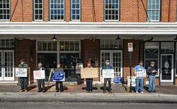 Протестующий городской Roanoke, Вирджиния, США Стоковое Изображение