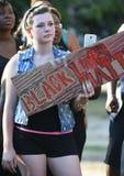 Протестующий на черных жизнях имеет значение ралли в Чарлстоне, SC Стоковая Фотография RF
