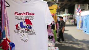 Протесты выключения Бангкока, Таиланд сток-видео