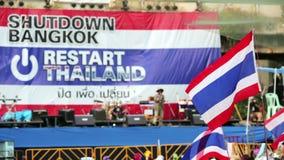 Протесты выключения Бангкока, Таиланд акции видеоматериалы