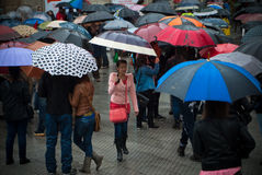 Протесты в Испании Стоковые Изображения