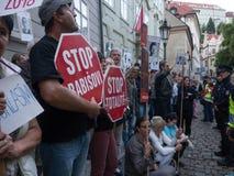 Протесты в Праге Стоковое Изображение RF