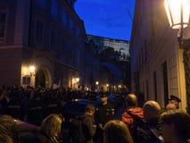 Протесты в Праге Стоковая Фотография