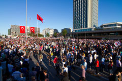 Протесты в Турции Стоковые Изображения RF