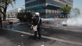 Протесты в Чили видеоматериал