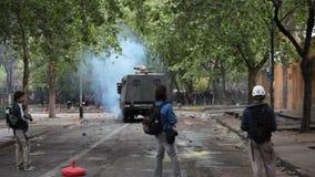Протесты в Чили сток-видео