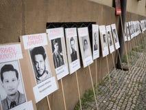 Протесты на квадрате Malostranske в Праге Стоковые Изображения RF