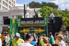 Протесты против бразильского президента Стоковое фото RF