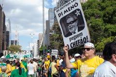 Протесты против бразильского президента Стоковые Изображения RF