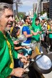 Протесты против бразильского президента Стоковые Фото