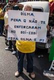 Протесты против бразильского президента Стоковые Изображения