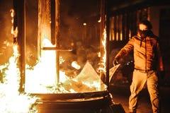 Протесты Румыния стоковое изображение