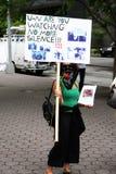 протесты york Ирана новые Стоковые Фото
