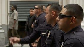 Протест вахты офицеров LAPD акции видеоматериалы