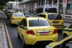 Протест водителей такси против Uber в Бразилии Стоковые Фотографии RF