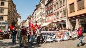 Протест в апреле против реформ работы в Франции Стоковые Изображения