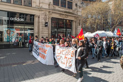 Протест в апреле против реформ работы в Франции Стоковая Фотография RF
