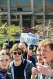 Протест в апреле против реформ работы в Франции Стоковое Изображение