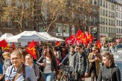 Протест в апреле против реформ работы в Франции Стоковые Фото