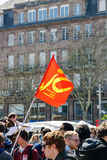 Протест в апреле против реформ работы в Франции Стоковое Изображение RF