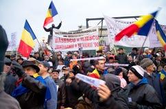 Протест в Бухарест стоковые фотографии rf