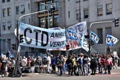 Протест в Буэносе-Айрес, Аргентине Стоковые Изображения RF