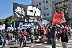 Протест в Буэносе-Айрес, Аргентине Стоковая Фотография
