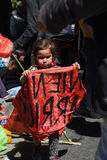 Протест в Буэносе-Айрес, Аргентине Стоковое фото RF