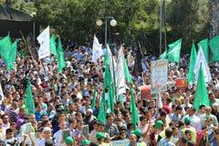 Протест в Газа стоковое изображение