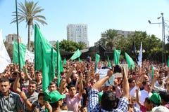 Протест в Газа стоковые фото
