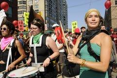 Протест в Торонто. Стоковые Изображения RF