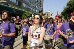Протест в Торонто. Стоковые Изображения