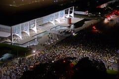 Протест в Brasilia - Бразилии стоковое изображение rf