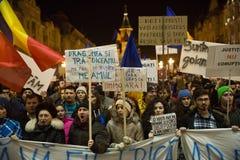 Протест в Romaia Стоковое фото RF