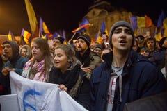 Протест в Romaia Стоковая Фотография
