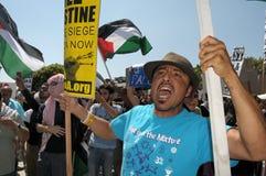 Протест Газа стоковое изображение