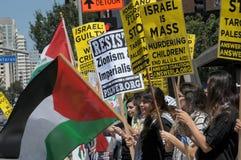 Протест Газа стоковое фото