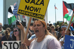 Протест Газа стоковые фото