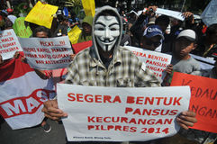 Протест избрания Индонезии Стоковое Изображение RF