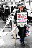 Протест Израиля Палестины Стоковое Изображение